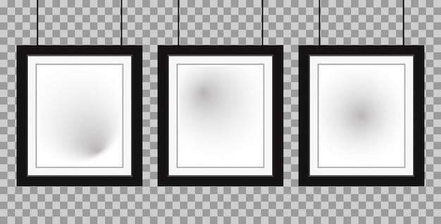 Cadre réaliste trois affiches