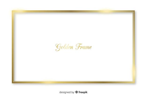 Cadre rectangle doré réaliste
