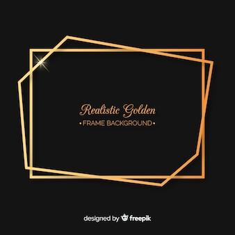 Cadre rectangle doré