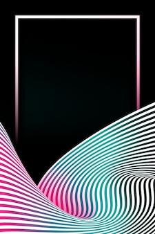 Cadre rectangle sur un fond abstrait