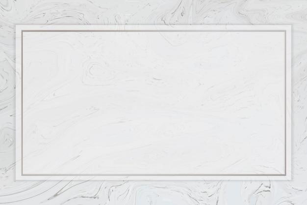 Cadre rectangle gris fluide