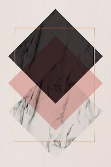 Cadre rectangle losange