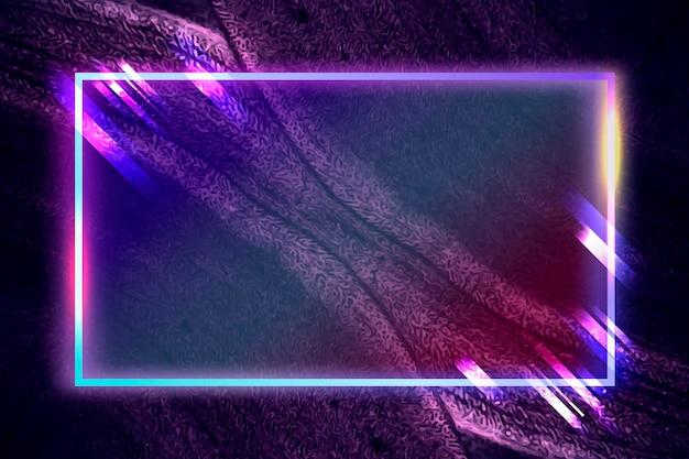 Cadre rectangle sur vecteur de fond abstrait