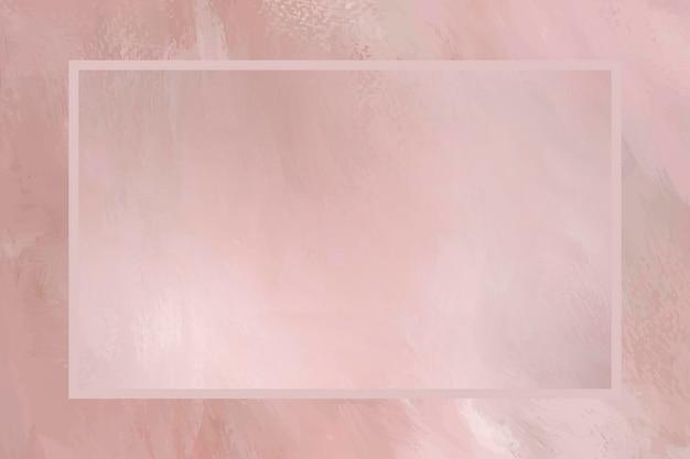 Cadre rectangle sur vecteur de modèle de fond rose