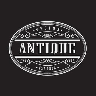 Cadre rétro vintage antique