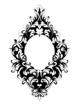Cadre riche baroque vintage