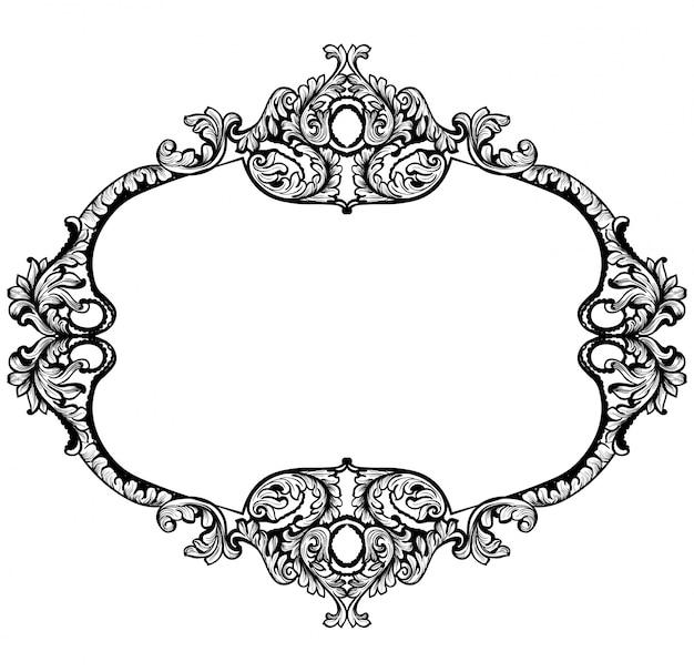 Cadre rococo vintage baroque
