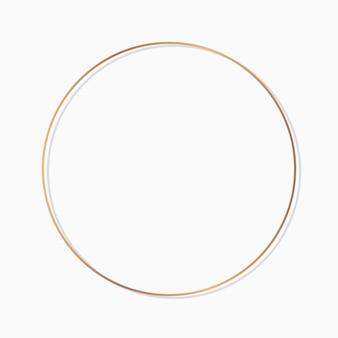 Cadre rond de cercle sur un vecteur de fond blanc