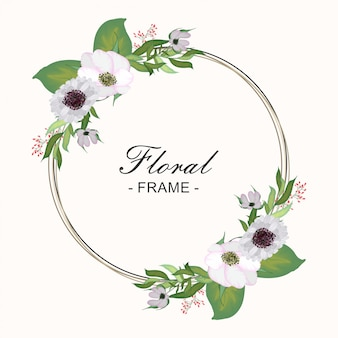 Cadre rond floral