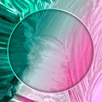 Cadre rond sur fond abstrait