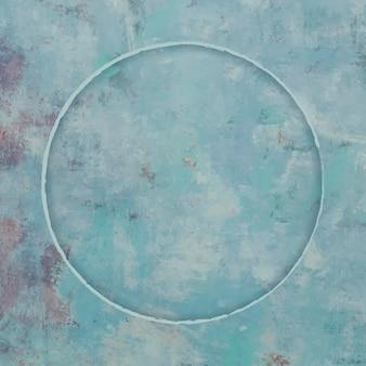 Cadre rond sur fond bleu vecteur