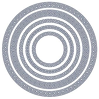 Cadre rond avec motif grec