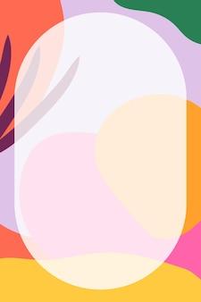 Cadre rond en neo memphis coloré