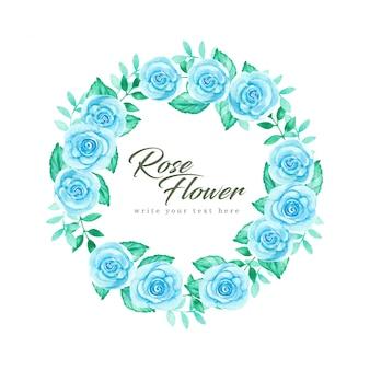 Cadre rose bleu