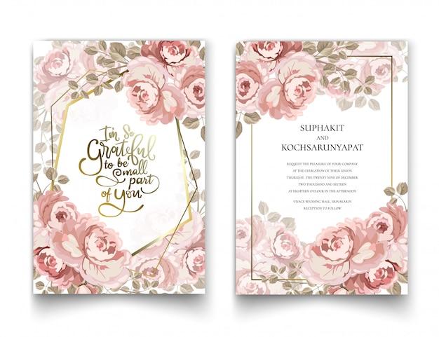 Cadre de roses pour cartes d'invitation et graphiques.