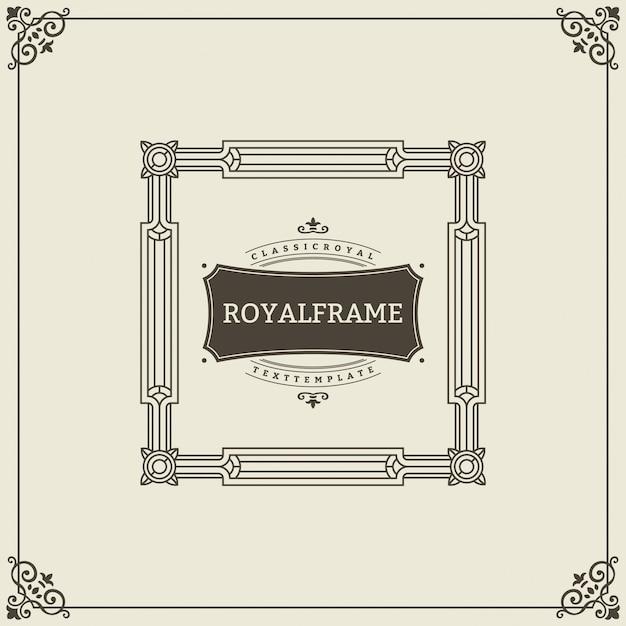 Cadre royal. cadre victorien ornement vintage