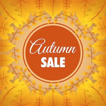 Cadre saisonnier circulaire de vente d'automne