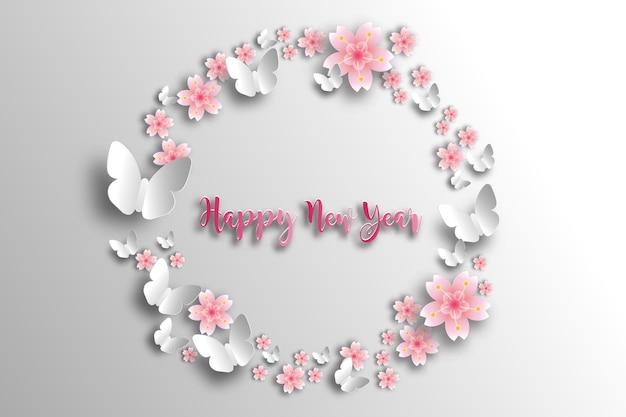 Cadre sakura. carte de vacances de printemps