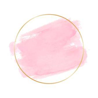 Cadre simple doré tache aquarelle