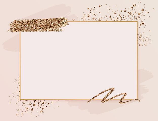 Cadre de style luxe doré dégradé