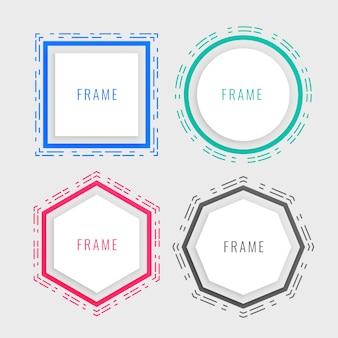 Cadre de style memphis géométrique