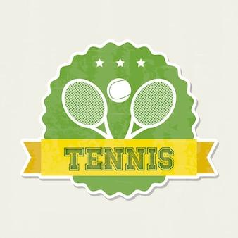 Cadre de tennis sur illustration vectorielle fond crème