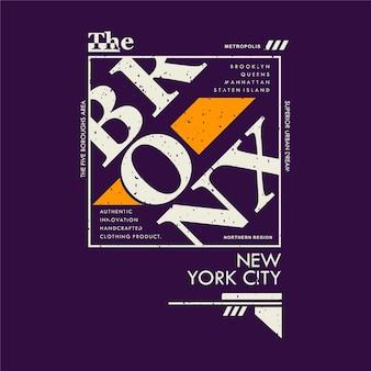 Le cadre de texte bronx new york city