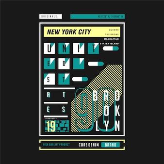 Cadre de texte des états-unis new york city