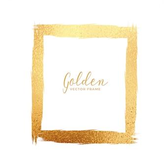 Cadre de texture de feuille d'or abstraite
