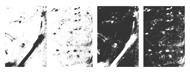 Cadre de texture grunge rectangulaire ensemble de fond effet en détresse