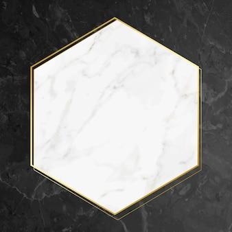 Cadre texturé en marbre blanc