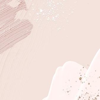 Cadre de texture de peinture acrylique sur fond rose pastel