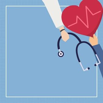Cadre sur le thème des soins de santé