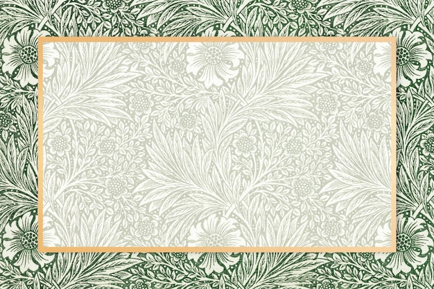 Cadre en tissu bohème motif william morris