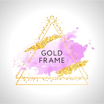 Cadre triangle d'or