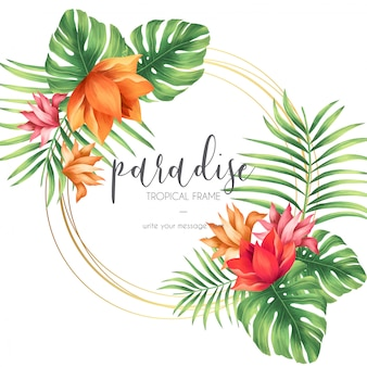 Cadre tropical avec la nature exotique