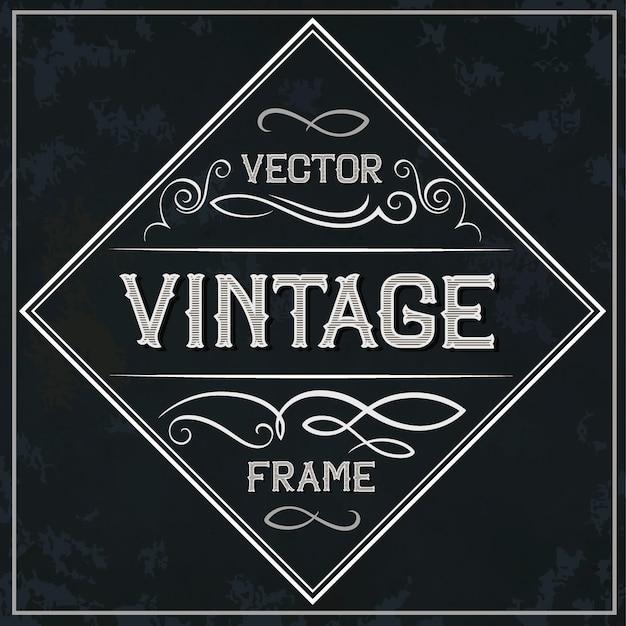 Cadre de vecteur - décoration de texte vintage. monogramme