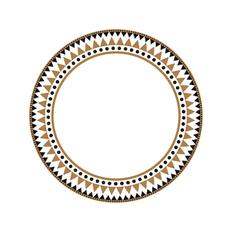 Cadre de vecteur de style tribal africain ethnique ou bordure de cercle