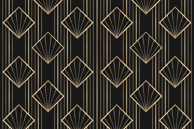 Cadre vectoriel art déco avec motif géométrique sur fond sombre