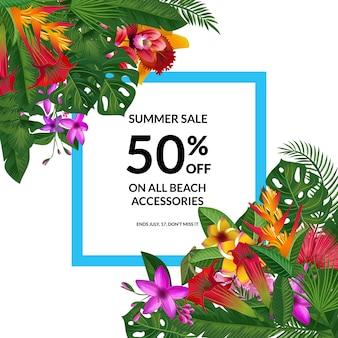 Cadre de vente tropical