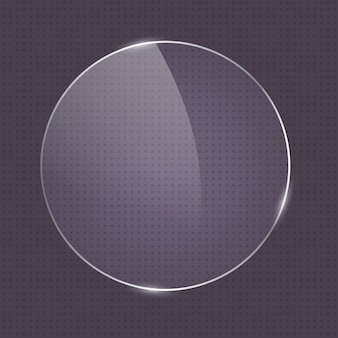 Cadre en verre de forme ronde réaliste