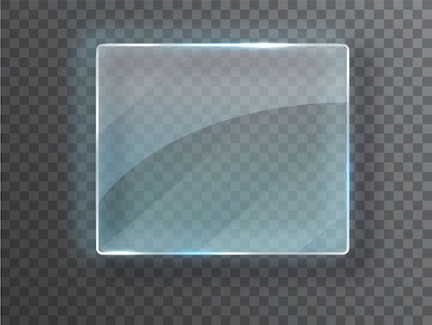 Cadre de verre de vecteur.