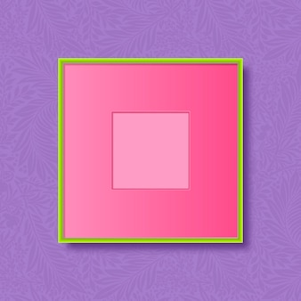 Cadre vert sur fond violet