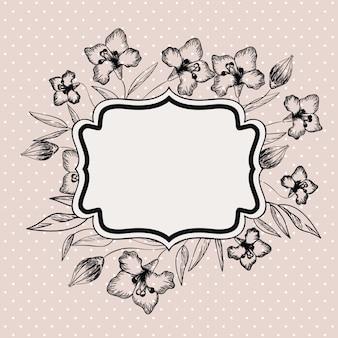 Cadre victorien décoratif lily fleurs