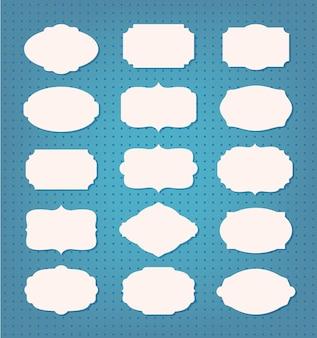 Cadre vide et illustration de jeu d'étiquettes