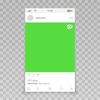 Cadre vidéo par modèle instagram