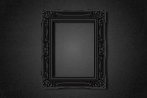 Cadre vierge noir sur le mur