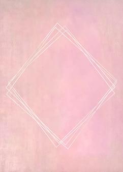 Cadre vierge sur peinture rose pastel