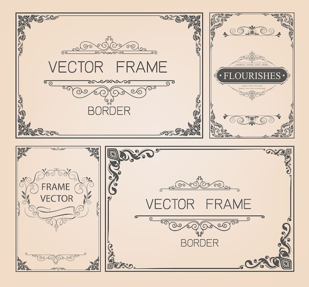 Cadre vintage et jeu de bordures