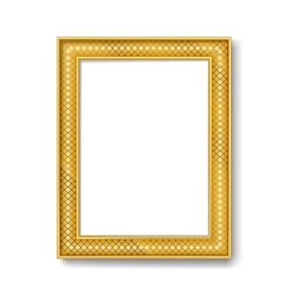 Cadre vintage en or